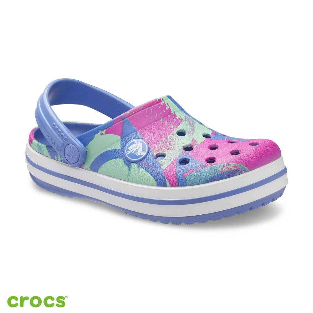Crocs卡駱馳 (童鞋) 卡駱班花紋克駱格-206607-434