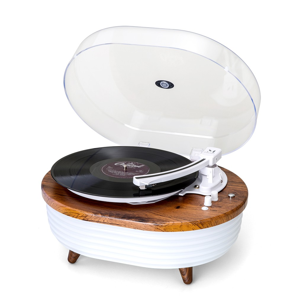 繽紛造型款黑膠唱片機 | 是唱片機也是揚聲器 | LED燈