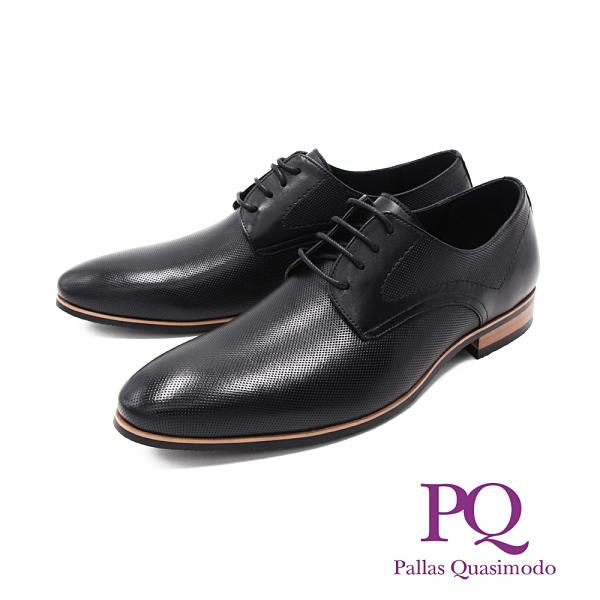 PQ(男)尖頭暗紋紳士德比鞋 正裝鞋 男鞋 - 黑(另有棕)