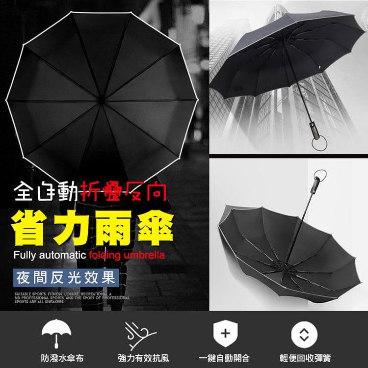 全自動折疊反向省力雨傘