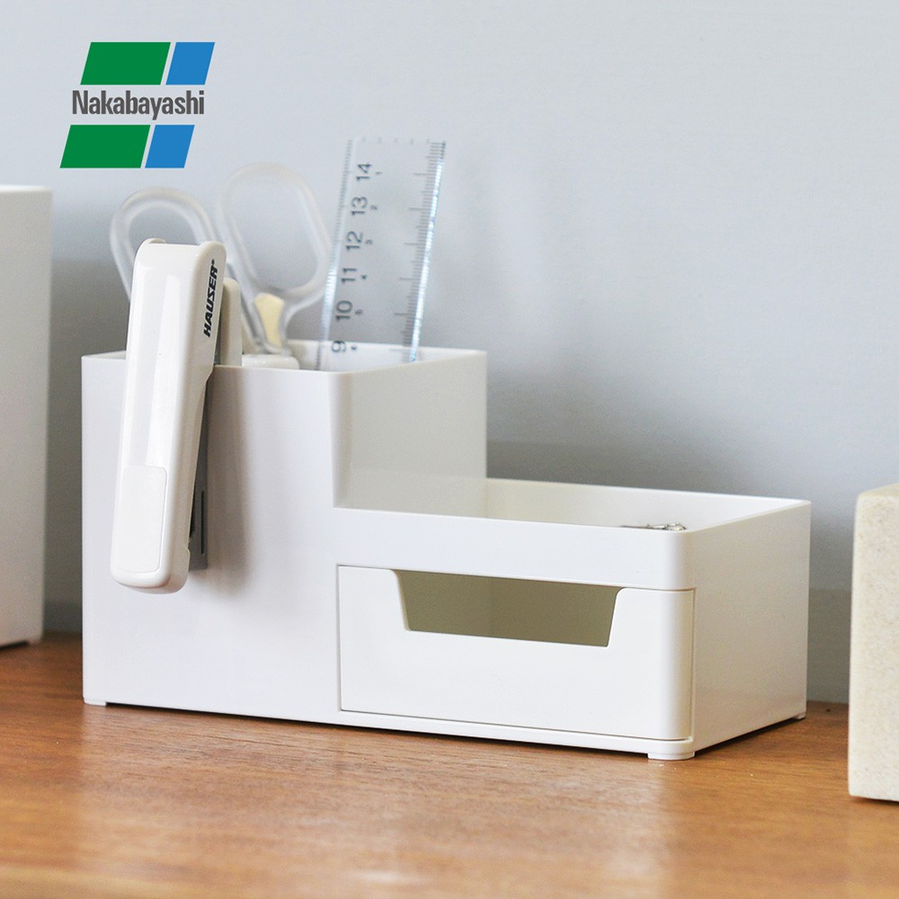 【日本仲林】方豆腐桌上型文具分隔收納盒(1抽)-S (化妝品 小物 藥品 裁縫工具 Nakabayashi 置物盒)