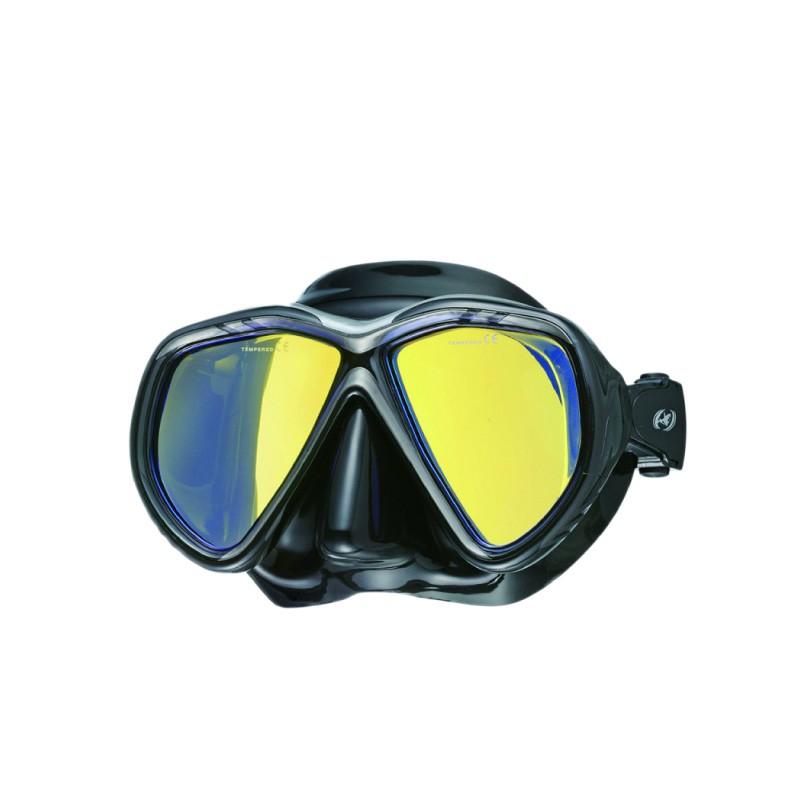{PROBLUE}MS-A248BTC 亞洲版專業型鍍膜黑矽膠雙面鏡【gogoscuba】