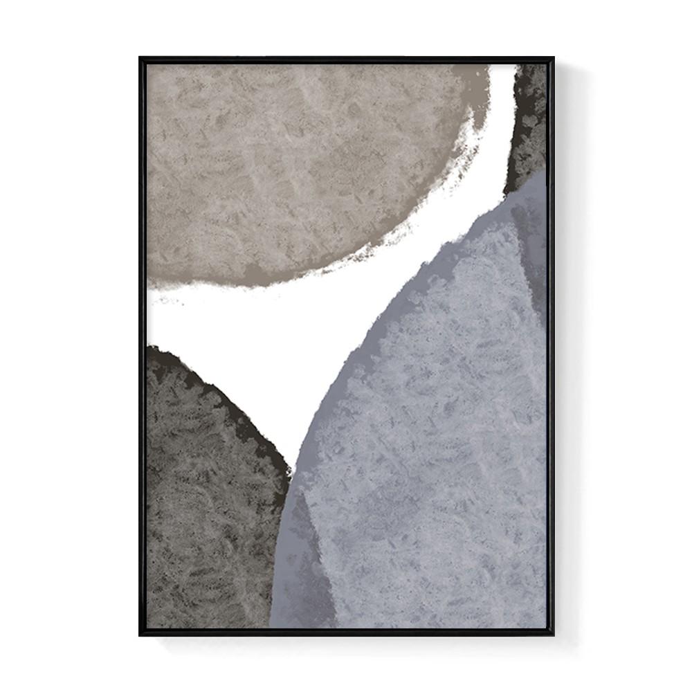 幾何圓 • 棕黑-畫/沙發背景掛畫/海報/早午餐店/廚房/複製畫