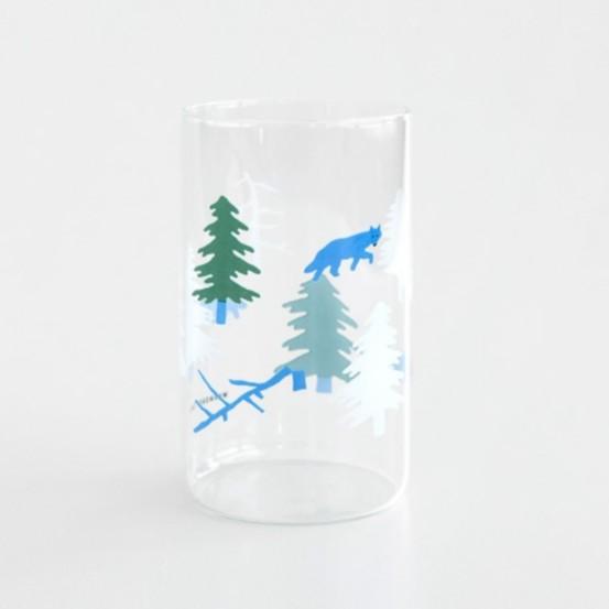 WARMGREY TAIL 北方森林插圖 玻璃杯