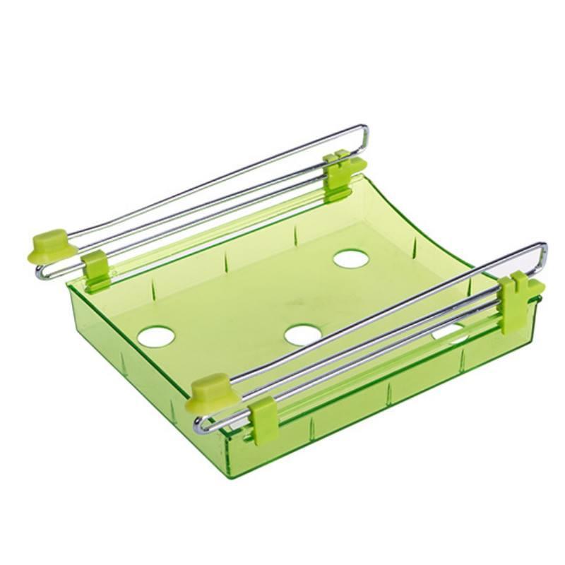 冰箱抽屜式收納盒 冰箱 收納盒 抽動式置物盒 抽屜【DY455】  123便利屋