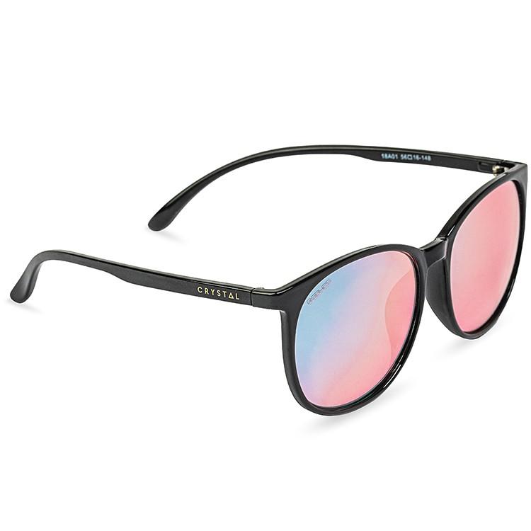 Classic Black 亮黑色鏡框 專利鍍膜鏡面|增艷玻璃偏光太陽眼鏡 18A01
