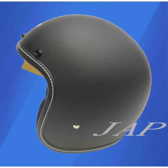 THH T383A+ T383A 素色 平光黑 雙鏡片 內襯全可拆洗 半罩 復古帽 安全帽《買就送好禮》