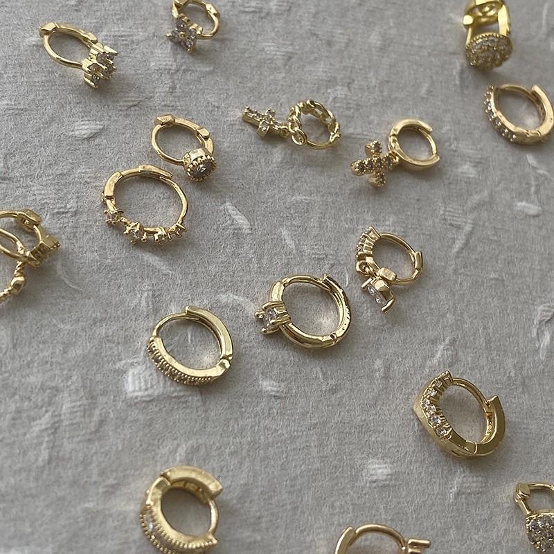 [合金.耳環單只] 歐美金色小圈扣 極小圈 耳骨環 造型小圈扣【PP】