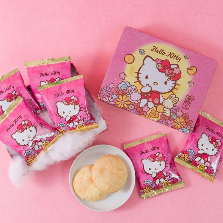 【紅櫻花】Hello Kitty 太陽餅馬口鐵禮盒(6入/盒)