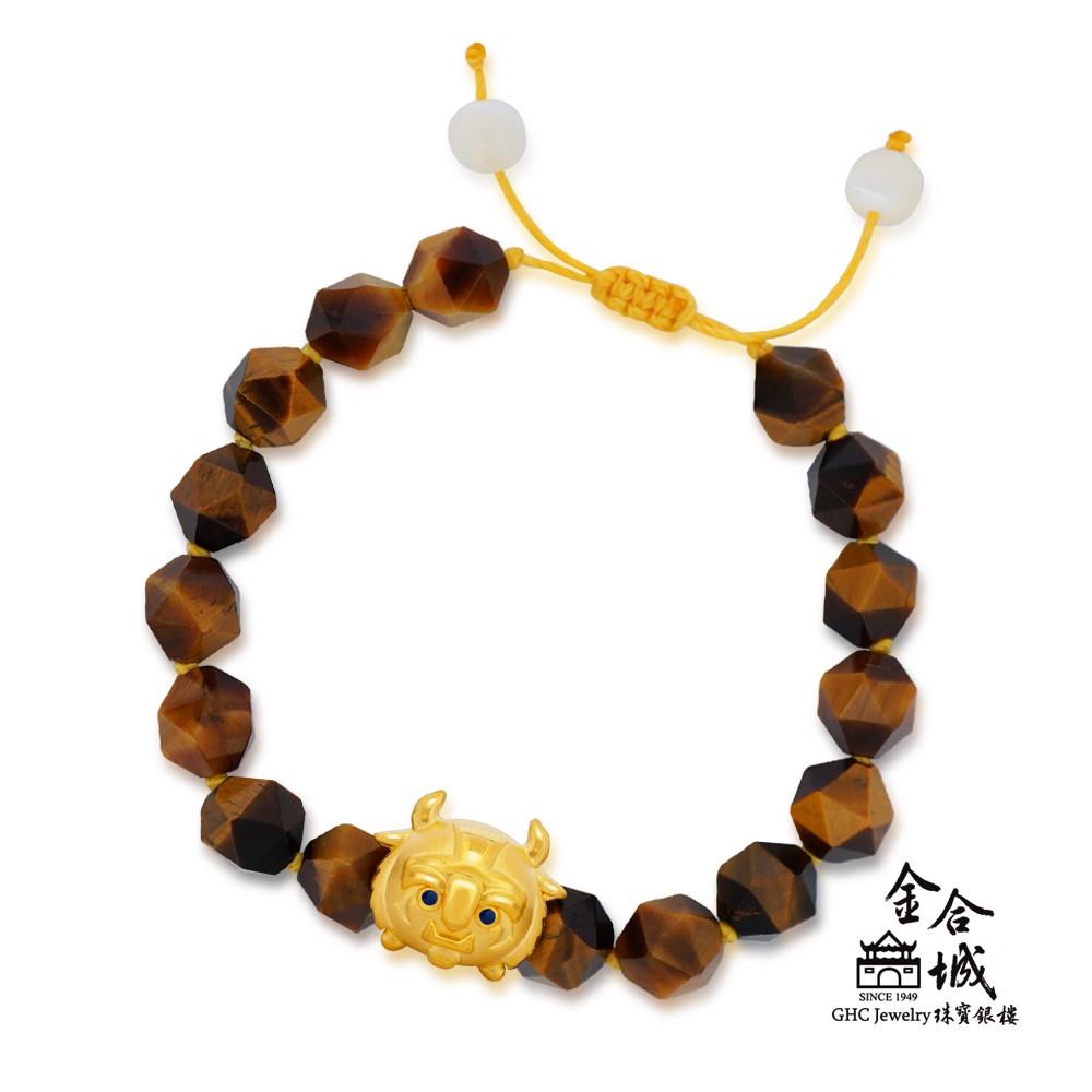 【迪士尼金飾】TSUM系列 野獸金珠手環(金重約0.29錢)