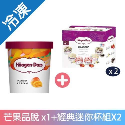 哈根達斯冰淇淋芒果經典迷你杯組【愛買冷凍】