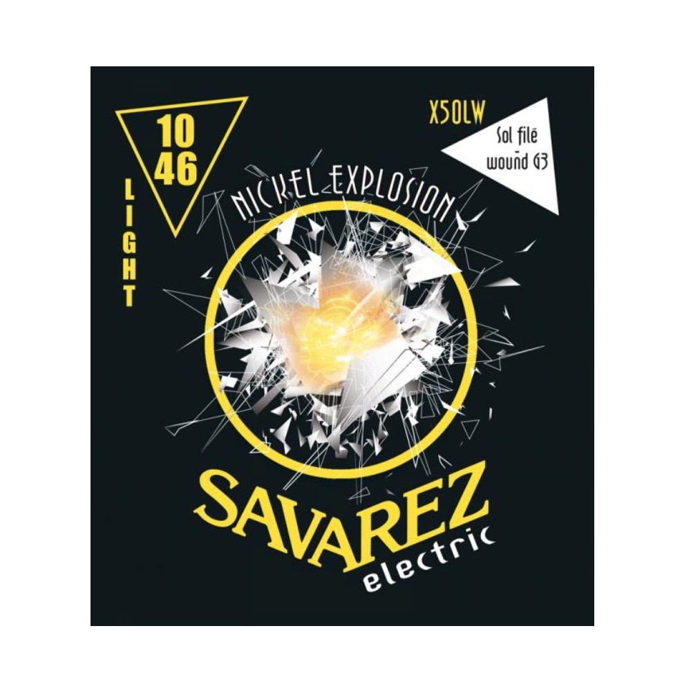 Savarez X50L LIGHT 鍍鎳電吉他弦 10-46【敦煌樂器】