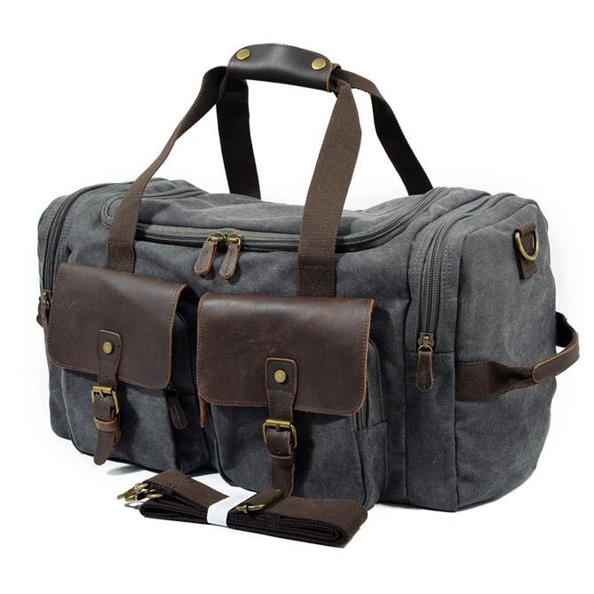 防潑水大容量旅行手提側背包
