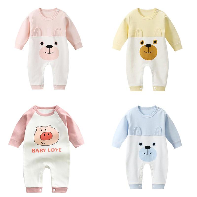 寶寶包屁衣 嬰兒連體衣 春秋新款哈衣長袖純棉爬服寶寶服裝 嬰兒衣服 [DM商城]