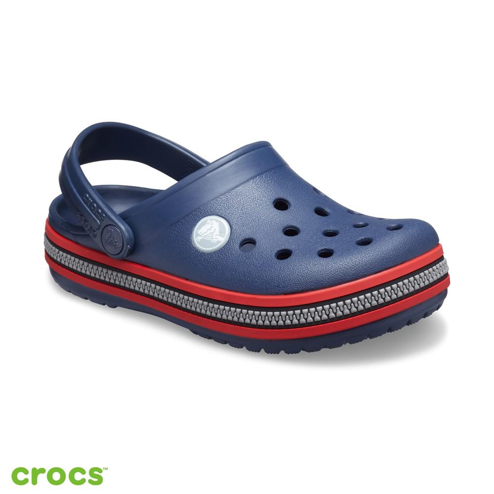 Crocs卡駱馳 (童鞋) 卡駱班拉鍊圖案克駱格 206552-485