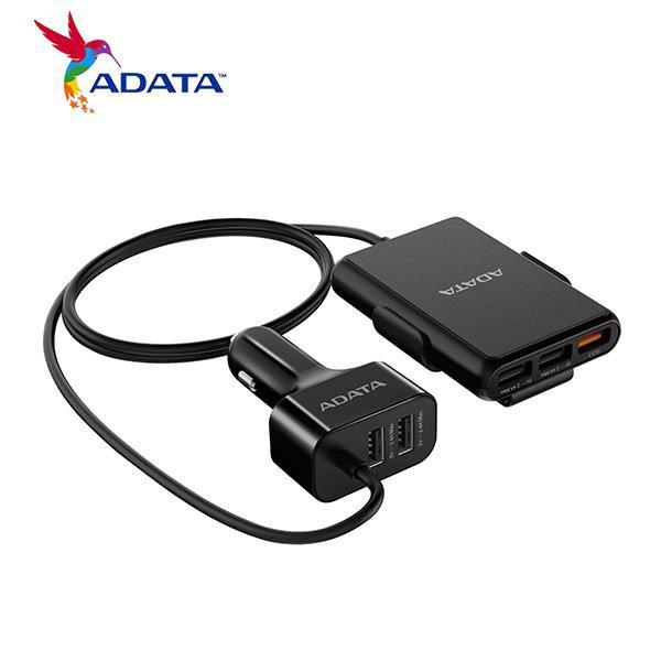 威剛 ADATA CV0525 車用充電器(5USB埠) QC3.0 共享電源 12-24V 高電壓 延長線