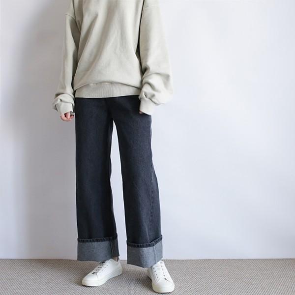 girlmonster 正韓 高腰牛仔長褲 (淺藍 深藍 黑色 ) 【A0441】
