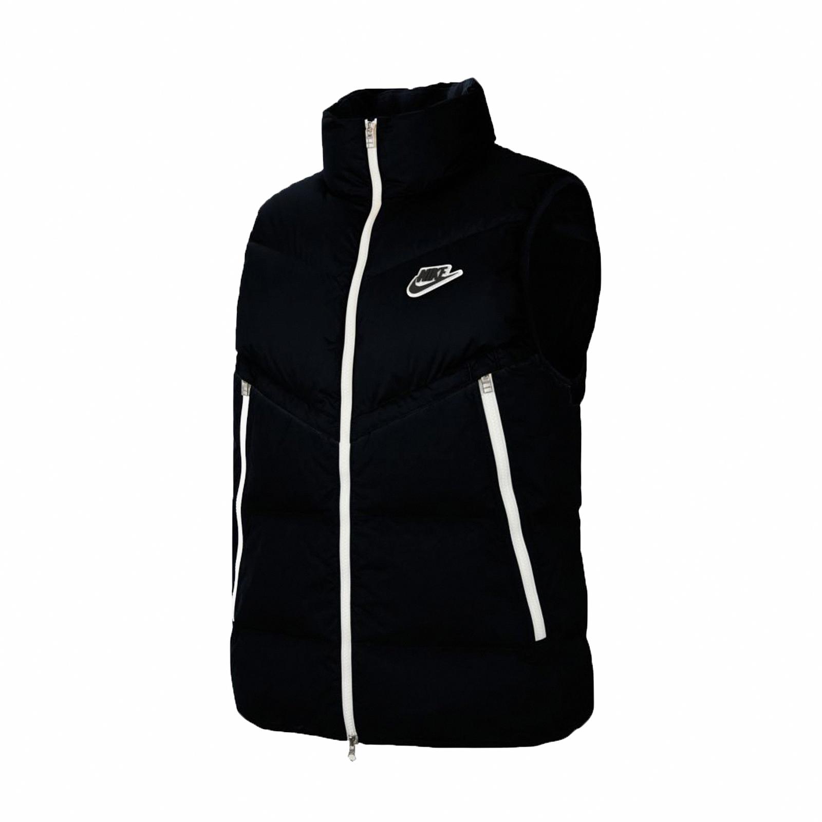 Nike 背心 NSW Windrunner Gilet 黑 男款 羽絨背心 保暖【ACS】CU4415-010