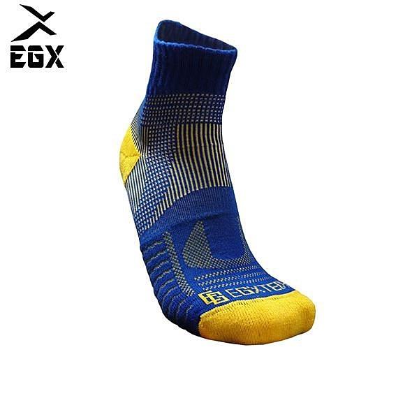 【南紡購物中心】《8字繃帶》P82 中筒多功8字繃帶運動襪(藍/黃)