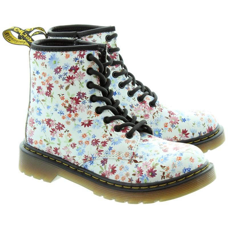 Dr.Martens Delaney Lace Ankle Boots 馬丁 馬汀鞋 中筒靴 (白色小花) 化學原宿