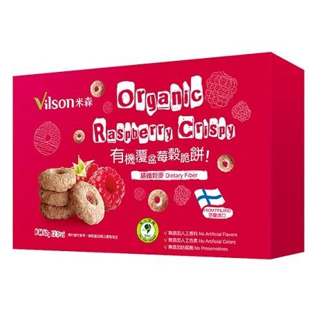 米森 有機覆盆莓穀脆餅 60g/盒(另有3盒特惠)