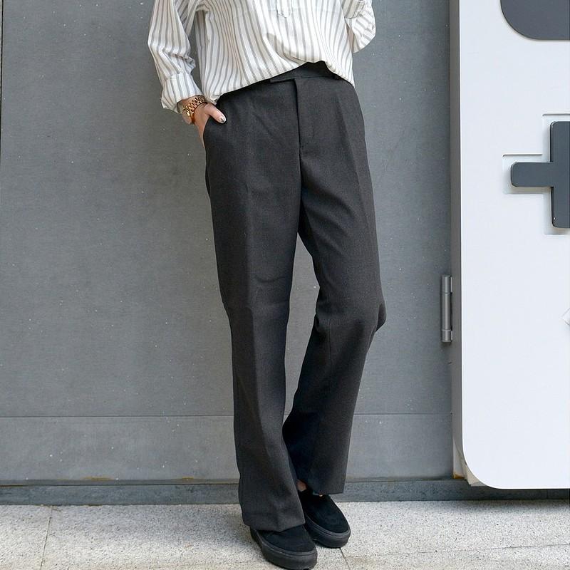 寬版垂墜感西裝褲 韓版西裝褲 中性服飾 休閒西裝褲男|Studio W