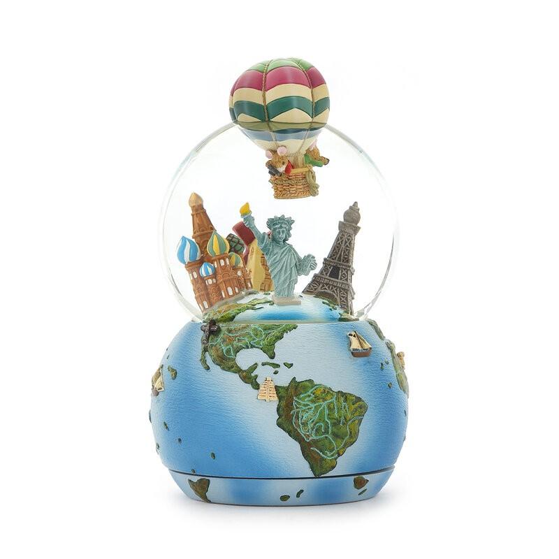 老鼠熱氣球 環遊世界 水晶球音樂盒