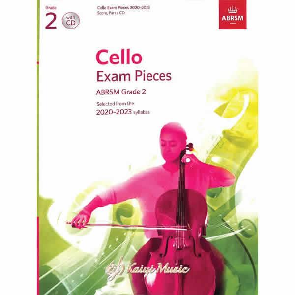 英皇 2020-2023大提琴考試指定曲&CD第二集【Kaiyi】ABRSM Cello Exam &CD G2