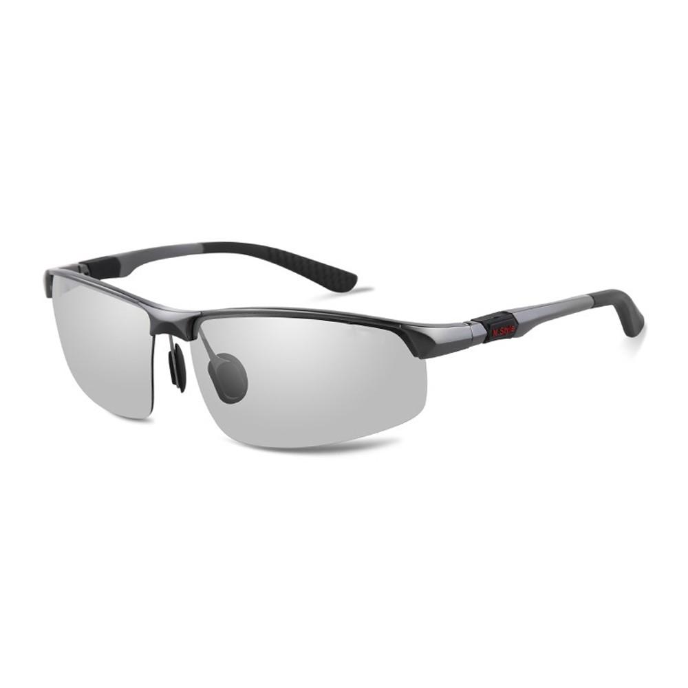 MEGASOL 防眩光UV400偏光鋁鎂合金太陽眼鏡(感光智能變色日夜全天候適用BS3121-3色任選) 廠商直送