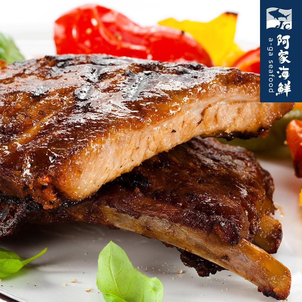 和風豬肋排(醬汁/碳烤豬肋排) 900g±10%/包【阿家海鮮】