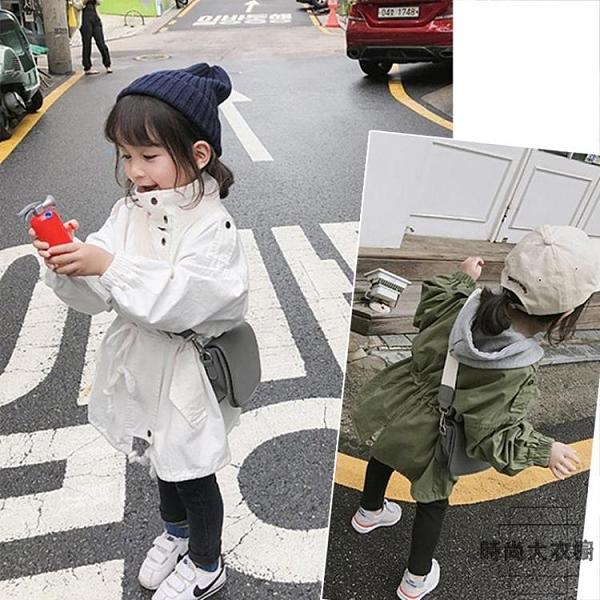 女童外套秋季童裝超洋氣兒童風衣潮