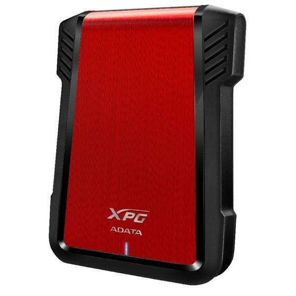 威剛 ADATA 2.5吋硬碟外接盒 EX500 USB 3.1 (紅) 免工具拆裝 智慧防撞斷設計 HDD/SSD