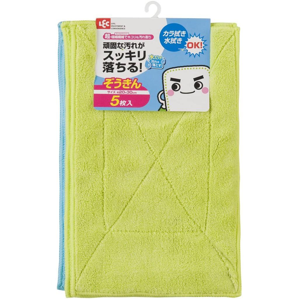 LEC 激落君 超細纖維清潔巾 (5入)