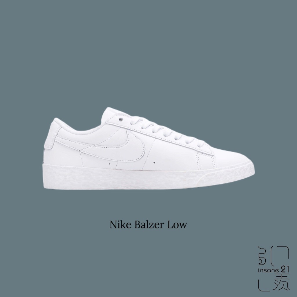 NIKE NSW BLAZER LOW L全白 白魂 瘦子 ESO 情侶 AV9370-111 廠商直送 現貨
