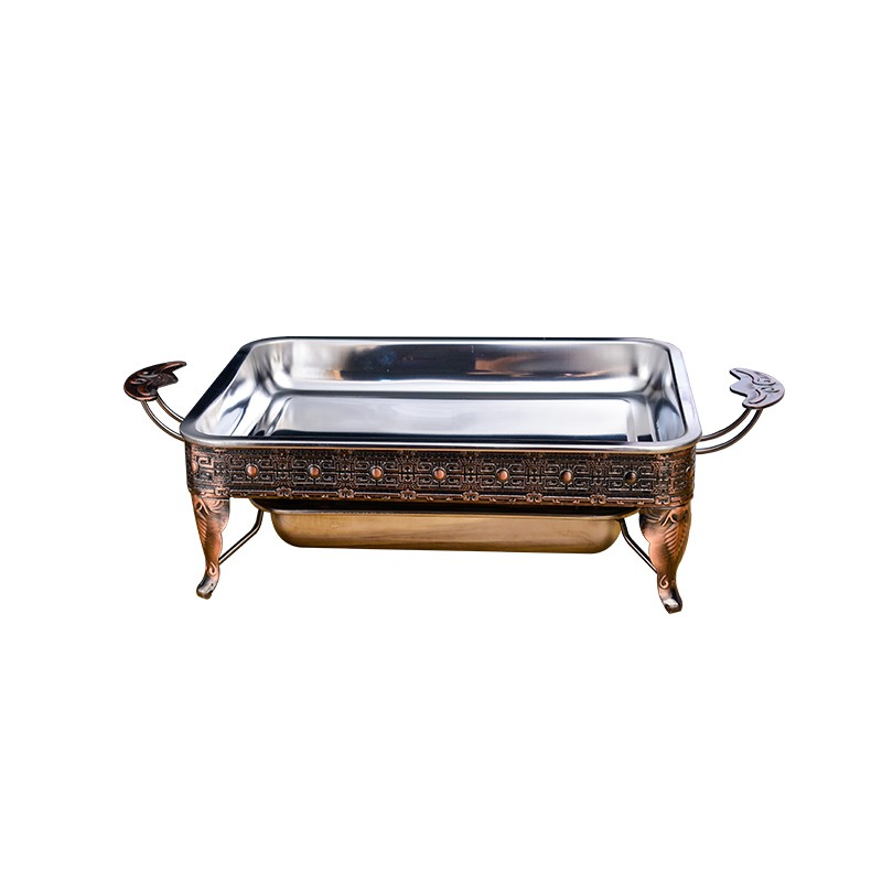 新款-不銹鋼烤魚爐商用木炭烤魚盤家用碳烤酒精爐餐廳海鮮大咖盤長方形