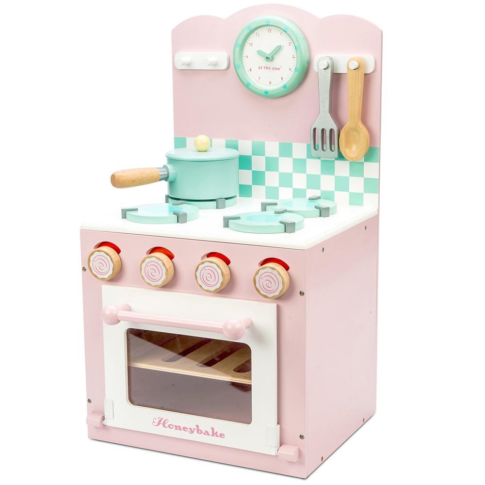 英國 Le Toy Van 角色扮演系列-烤箱瓦斯爐小廚師大型玩具組 (夢幻公主粉)【hughugbaby抱抱寶貝】
