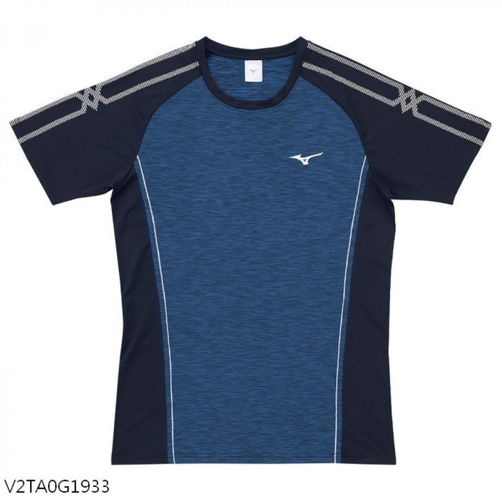 MIZUNO 男裝 短袖 排球 手球 合身版型 吸汗快乾 深丈青【運動世界】V2TA0G1933