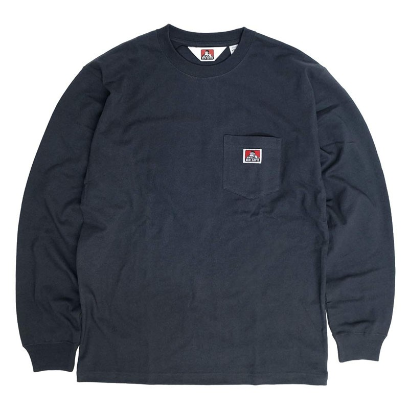 BEN DAVIS - 0780036-01 POCKET L/S TEE 口袋 薄長T (黑色) 化學原宿