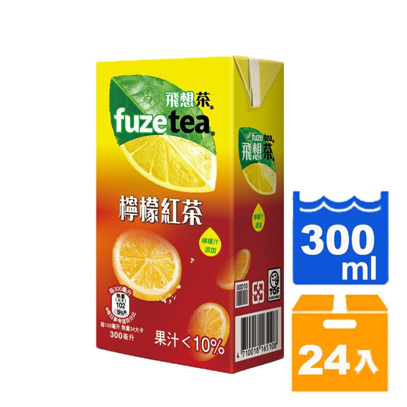 FUZE tea 飛想茶 檸檬紅茶 300ml (24入)/箱 【康鄰超市】