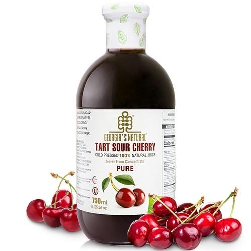 Georgia酸櫻桃原汁(750ml/瓶) 非濃縮還原果汁 (選擇超商取貨請勿超過1瓶以上)