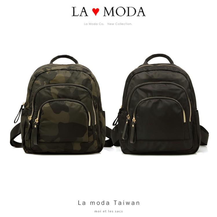 La Moda 旅行出遊首選防潑水多層設計防盜大容量後背包(共3色)