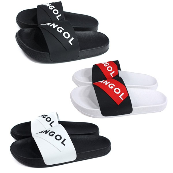 KANGOL 三色 拖鞋 防水拖鞋 LOGO字 60252201-00白/20黑/24黑紅 Sneakers542