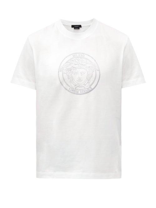 Versace - Medusa-print Cotton-jersey T-shirt - Mens - White