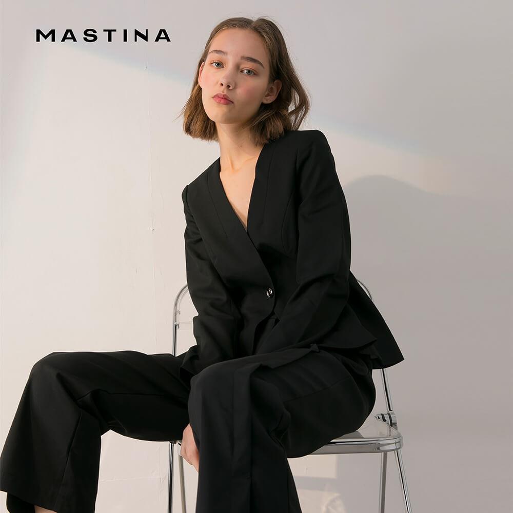 【MASTINA】簡約百搭單釦式-外套(黑色/版型合身)