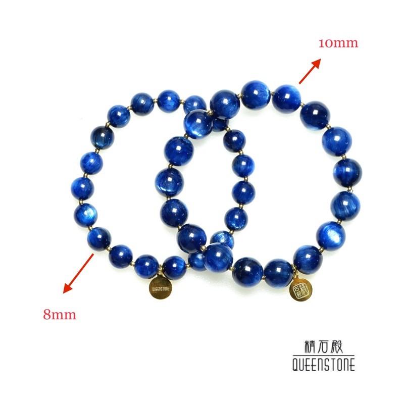 [精石殿]高等級天然藍晶石設計手鏈