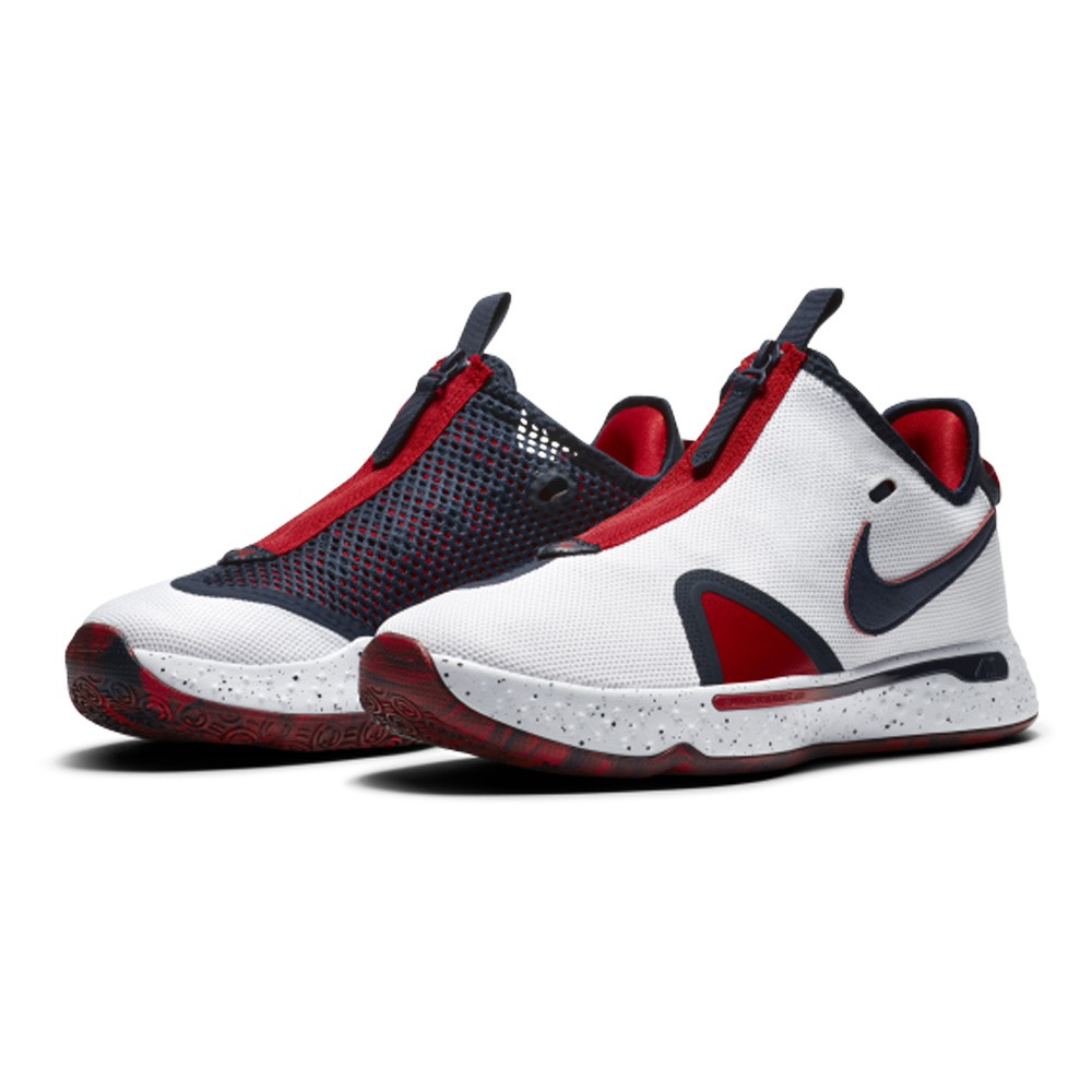 Nike PG 4 EP 男鞋 籃球 拉鍊 耐磨 氣墊 透氣 緩震 白藍【運動世界】CD5082-101