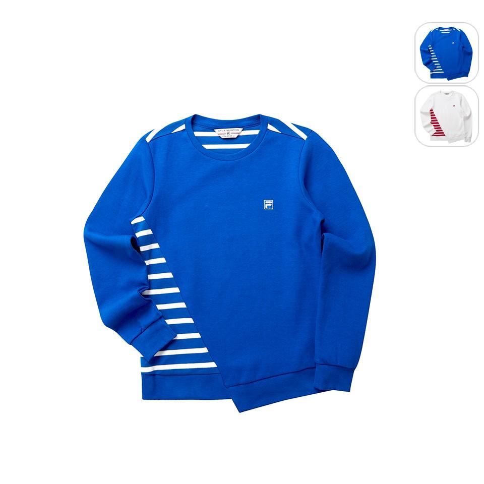 【FILA】女性 圓領T恤-藍色 5TET-5708-BU