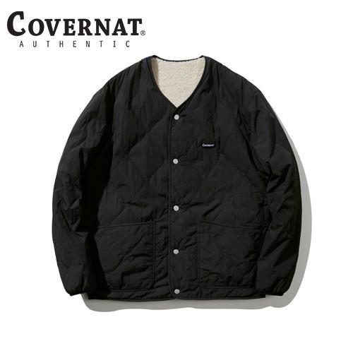 [COVERNAT] 20秋冬 雙面刷毛無領夾克(象牙色/黑色)