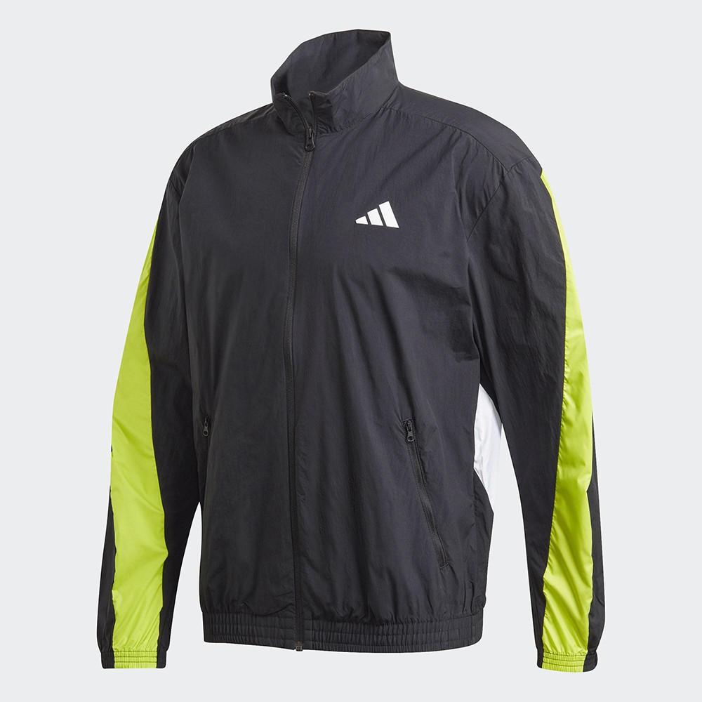 Adidas M URBAN Q3 TT 男款黑螢光兩色運動外套-NO.FR6599