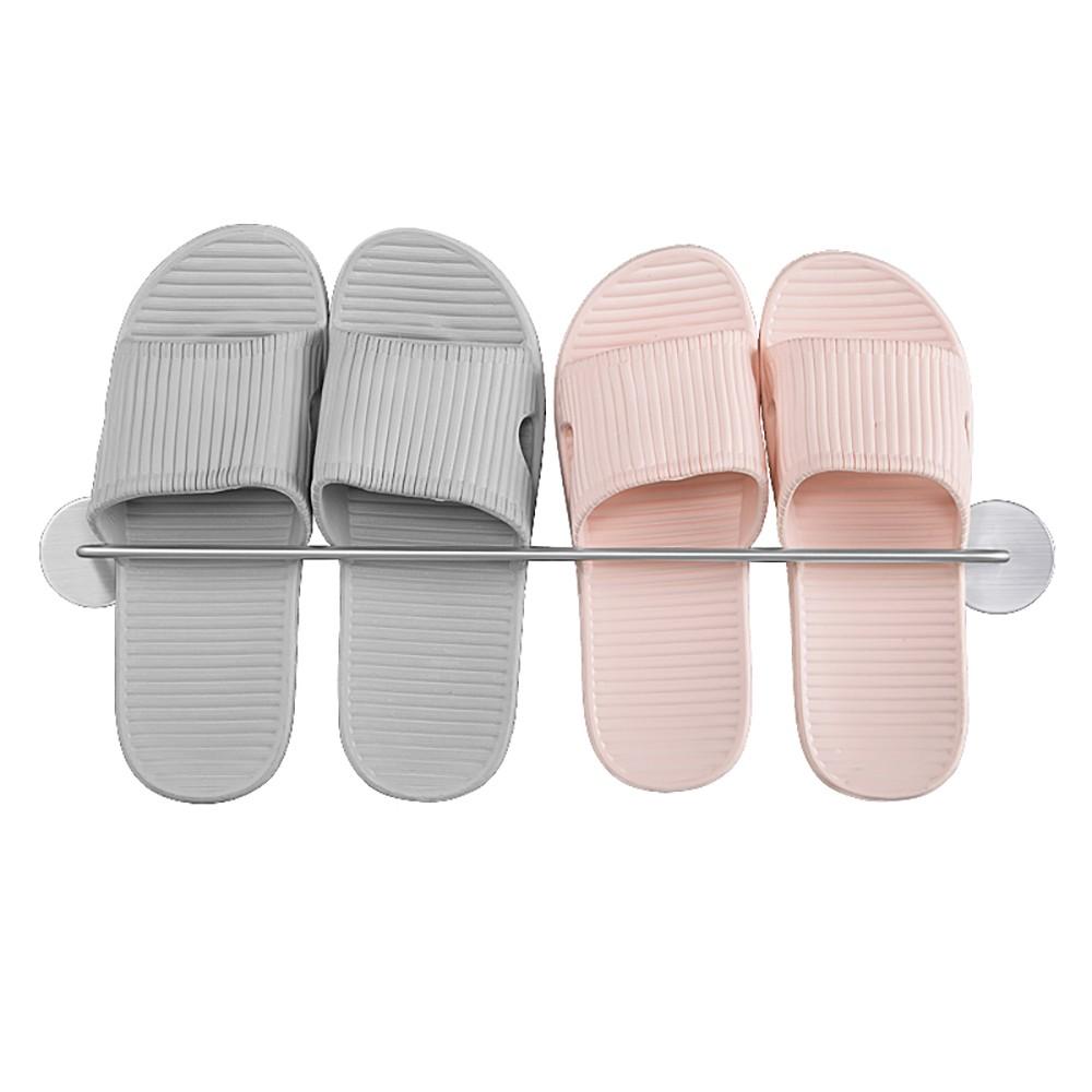 【熊愛貝百貨】免釘膠 不鏽鋼 壁掛 拖鞋架 (3個尺寸)